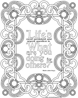 Then I decided that I wanted to do a coloring page with the same quote ...