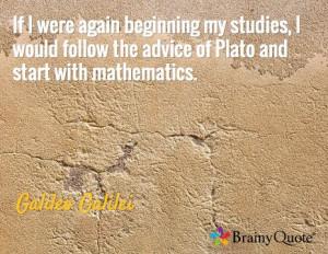 ... start with mathematics. -Galileo Galilei #math #quote #GoMathAcademy