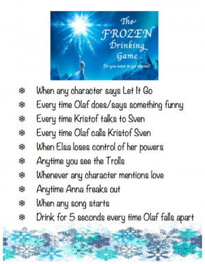 Frozen Drinking Game