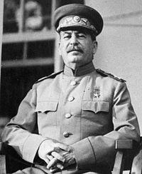 Joseph Stalin , dictator of the Soviet Union from 1929 to 1953.