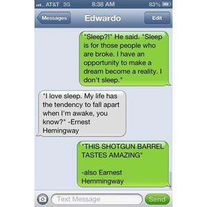 Famous quotes fight. iPhone text messages
