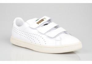 Puma Baskets Mode Homme Court Star Velcro Cuir White 357723 04