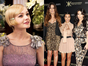Carey Mulligan as Daisy in 'Gatsby' and the Kardashian sisters
