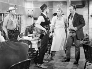 Lee Marvin, Jimmy Stewart, and John Wayne in 'The Man Who Shot Liberty ...