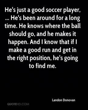 More Landon Donovan Quotes