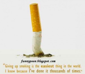 Smoking The Easiest Thing In The World - Funny Quote