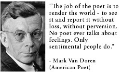 For more information about Mark Van Doren: http://www ...