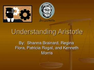Understanding Aristotle Quote 1: One should make moral ..