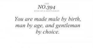Rule of a Gentleman