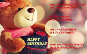 birthday wish daddy bear image happy birthday message happy birthday