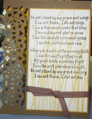 Sympathy Card one of my favorite sayings