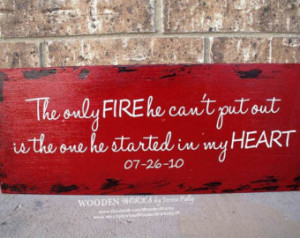 Firefighter Wife - Custom Wood Sign - 18x8 (WxH) - Fireman, Wife, Fire ...