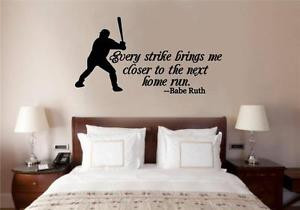 Baseball-Babe-Ruth-Quote-Vinyl-Decal-Wall-Stickers-Words-Lettering ...