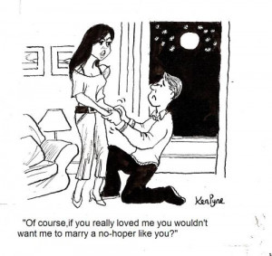 Cartoon: Marriage Proposal (medium) by Ken tagged proposal,marriage ...