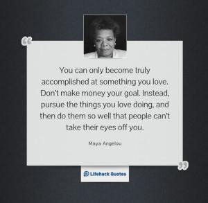 Maya Angelou- career choices