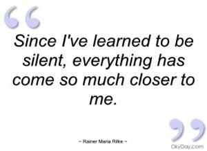 Rilke Quotes