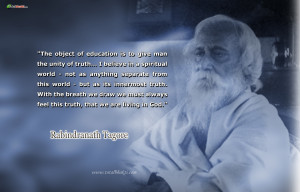 ... Download Wallpapers Rabindranath Tagore Quotes Blue And White Color