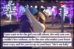 just want to be the girl you talk about the only one you couldn t ...
