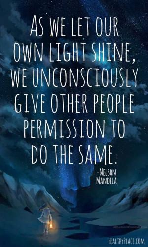 we shine when you shine quot
