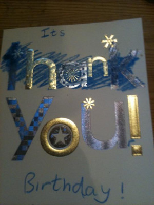 Can Even Tell Used Thank You Card