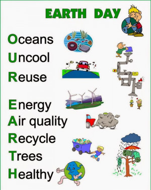 Printable Happy Earth Day 2015 Acrostic Poem