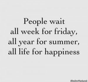 Don't wait.....