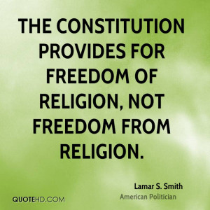 ... provides for freedom of religion, not freedom from religion