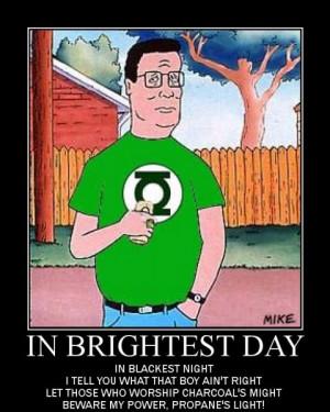 Green Lantern Hank Hill Image