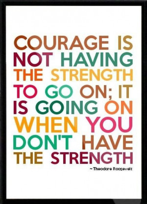 ... you don't have the strength.