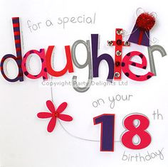 Happy 18th Birthday Daughter Poem | Product Description | Delights