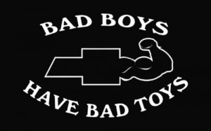 Bad Boys Chevy Die Cut Decal Vinyl Sticker