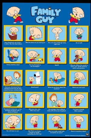 Family Guy - Stewie Quotes Poster