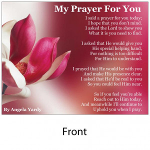 ... post cards including matching envelope my prayer for you with envelope