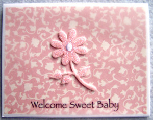 Baby Girl Congratulations Card For Parents, New Grandparent, Expectant ...