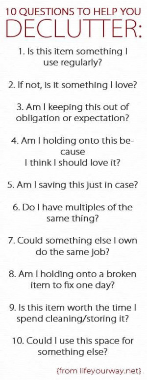Organization & Decluttering