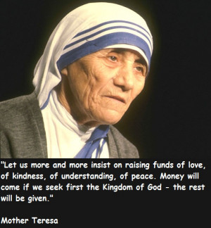 Great Thoughts And Quotes by Mother Teresa