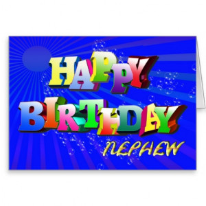 nephew_bright_letters_and_bubbles_birthday_card ...