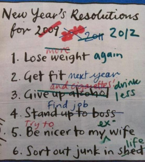 Funny New Year Resolutions Joke Picture | 2009 2010 2011 2012 2013 ...