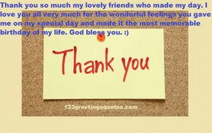 Friends, thank you so much for the kind words on my birthday! I really ...
