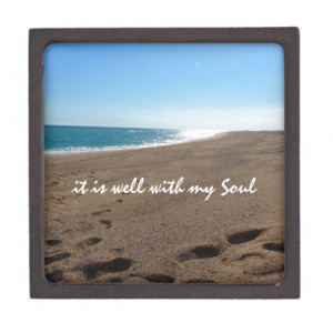 It is Well With My Soul Quote Beach Premium Trinket Boxes