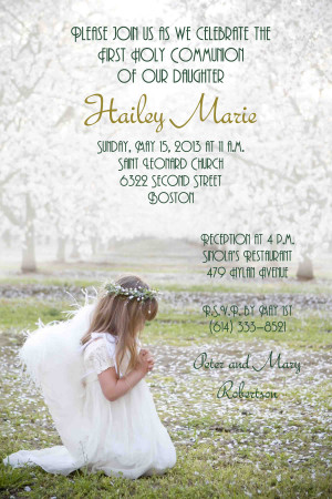 First Holy Communion , Girl First Communion Invitations , Girl First ...
