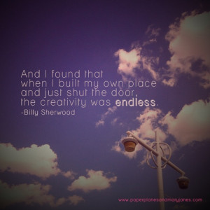 creativity quote from billy sherwood