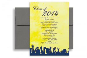 ... Wording University Printable Graduation Invitation 5x7 in. Vertical