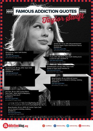Taylor Swift quotes on drugs and alcohol (INFOGRAPHIC)