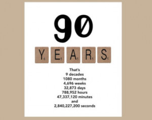 ... Birthday Card, Milestone Birthday Card, The Big 90, 1925 Birthday Card