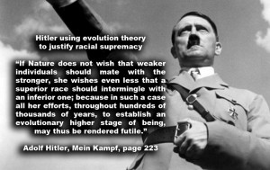 Hitler using evolution theory to justify racial supremacyIf Nature ...