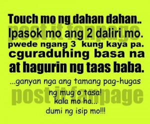 Pinoy Funny Jokes And Tagalog Quotes Boy Banat