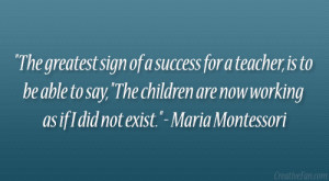 Maria Montessori Quotes About Teachers