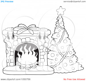 ... Of-A-Coloring-Page-Of-A-Christmas-Tree-And-Fire-Place-10241050756.jpg
