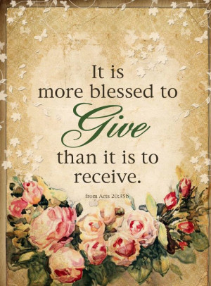 Giving & Love~*~Acts 20:35 http://www.firmefoundation.org/donate.html